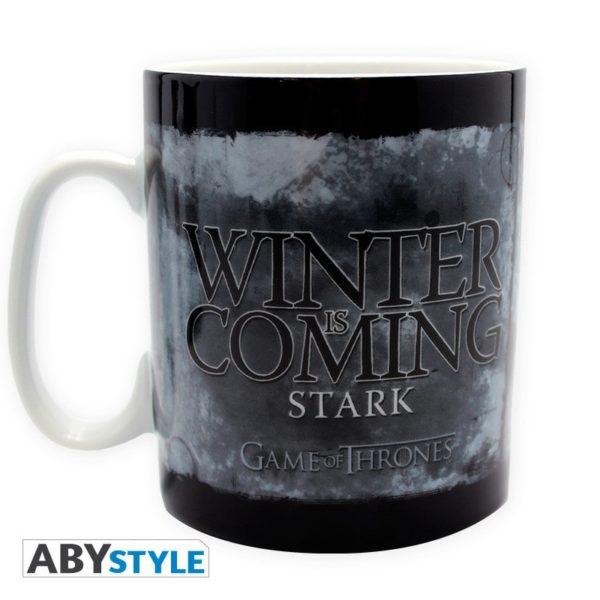 Coffret Game of thrones : Stark (mug, porte-clés, badges)