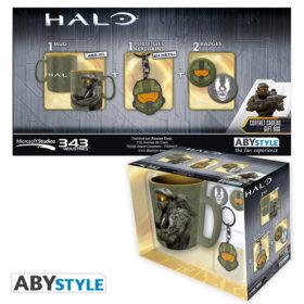 Coffret Halo : Masterchief (mug, porte-clés, badges)