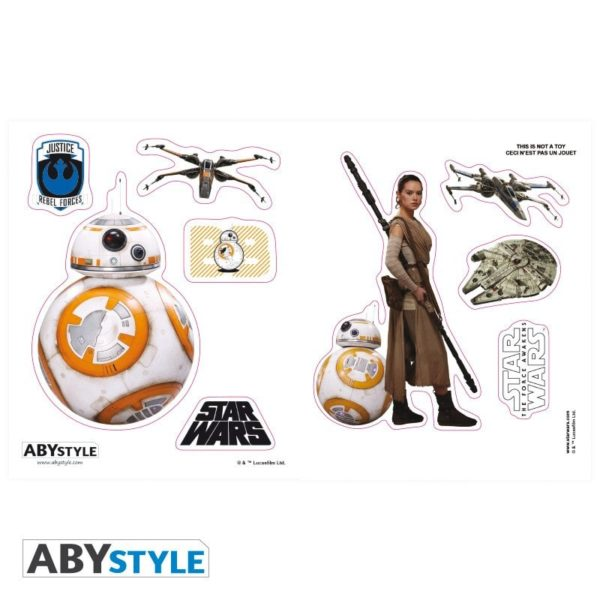 Coffret Star Wars : BB8 (mug, porte-clés, stickers)