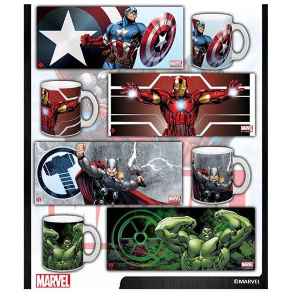 Assortiment 4 mugs Marvel Avengers (320ml)