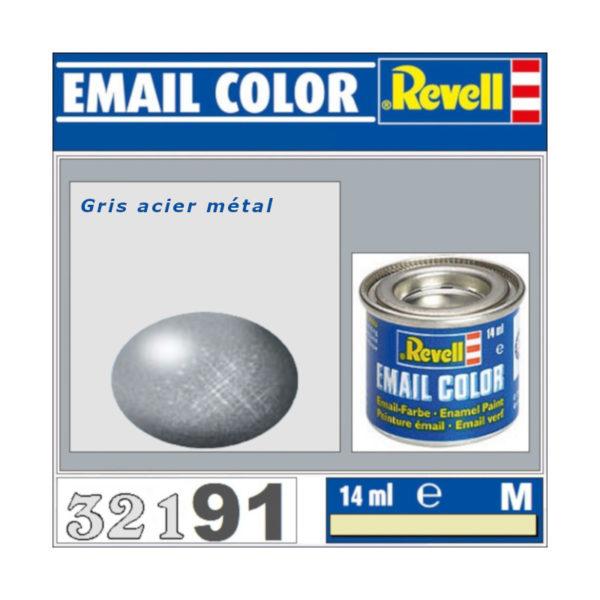 Peinture Revell - Gris acier métal
