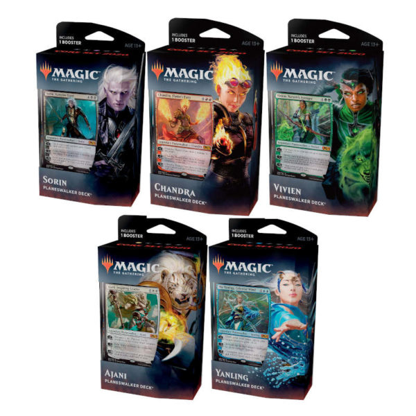 Magic the Gathering : Edition de base 2020 - les 5 Planeswalker