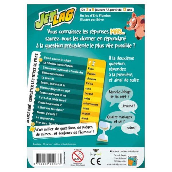 Jeu de société - Jetlag